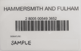Hammersmith and Fulham library card