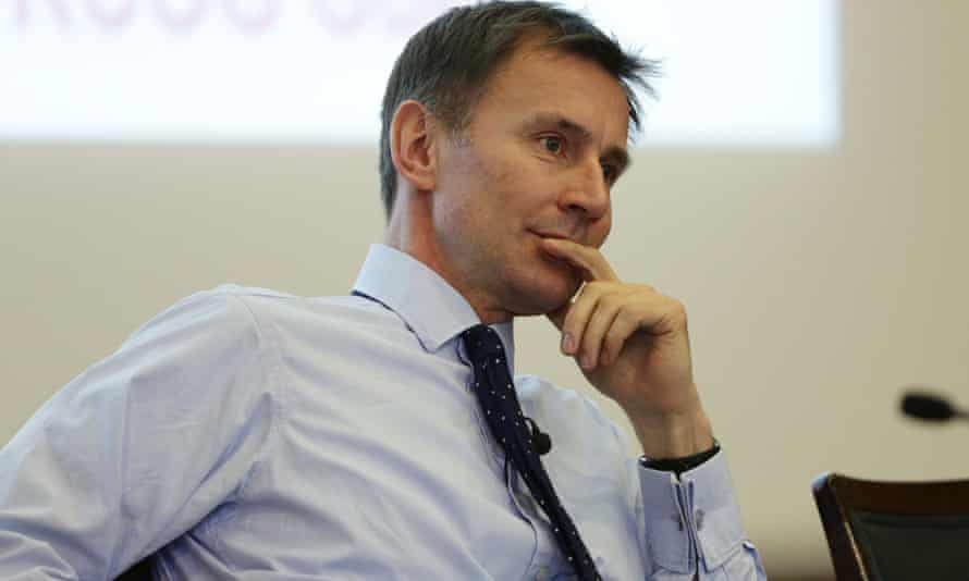 Jeremy Hunt speaking at an event