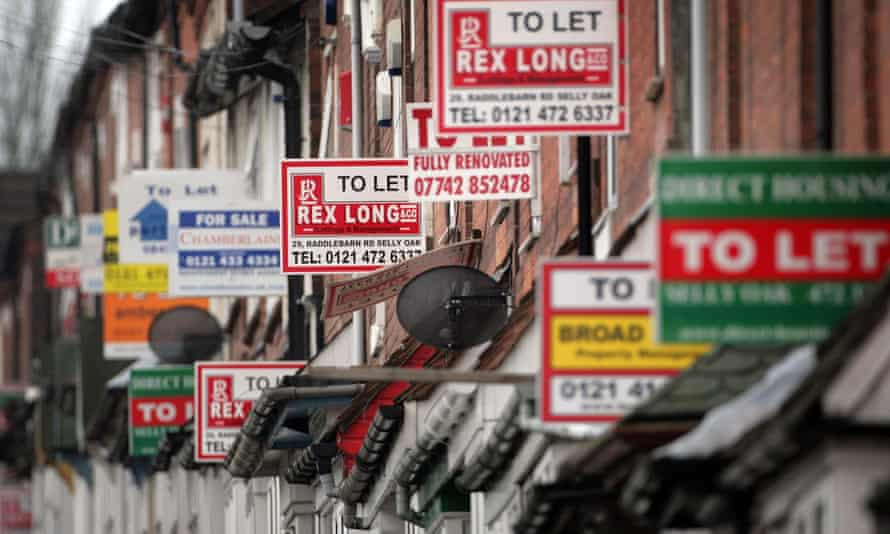 To Let signs n the Selly Oak area of Birmingham.