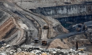 Nigahi coal mine, India's largest open cast mine, operated by NCL (Northern Coalfields Limited) in Singrauli.