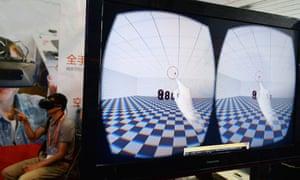 Oculus Rift Development Kit 2 at the Consumer Electronics Show, Shanghai.
