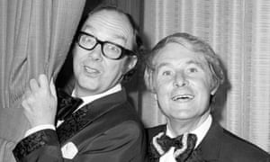 Eric Morecambe (left) and Ernie Wise during one of their popular shows..