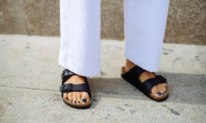 Carola Bernard in Birkenstock shoes in Milan last year.
