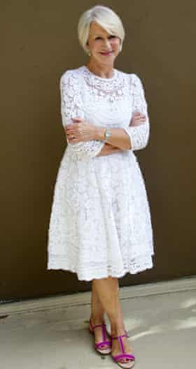 Helen Mirren keeps those feet in shape.