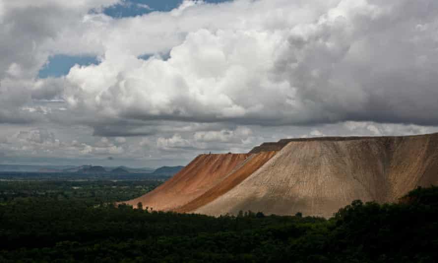Mining overburden in the Singrauli coalfield.