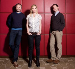 Pete Wiggs, Sarah Cracknell and Bob Stanley of St Etienne.
