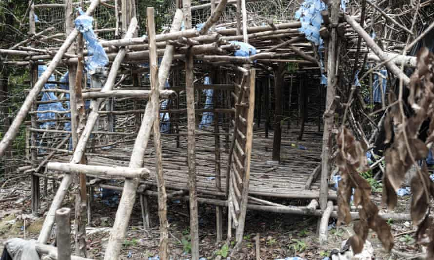 An abandoned migrant camp used by people-smugglers at Bukit Wang Burma