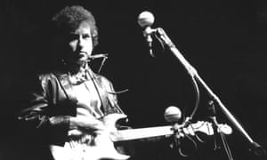 Bob Dylan goes electric at Newport folk festival in 1965.