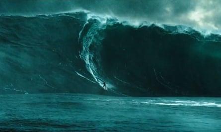 Breaking the waves ... a scene from Point Break.