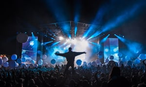 The crowd soaks up a set by Fatboy Slim at Bestival 2013