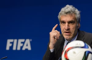 Fifa spokesman Walter de Gregorio gives a press conference at the organisation's headquarters in Zurich.