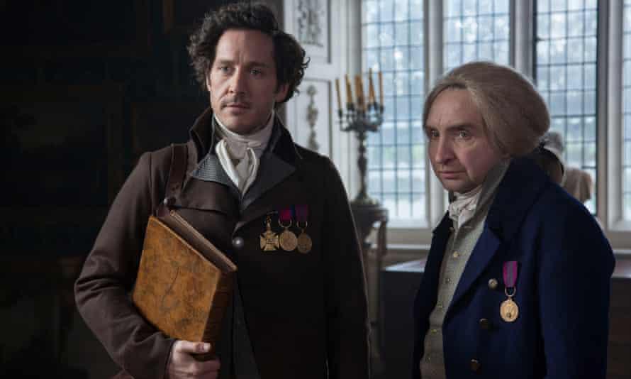 Making magic: as Jonathan Strange, with Eddie Marsan as Mr Norrell.