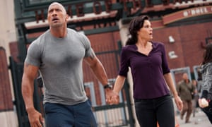 Dwayne Johnson and Carla Gugino in San Andreas, who are both the same age.