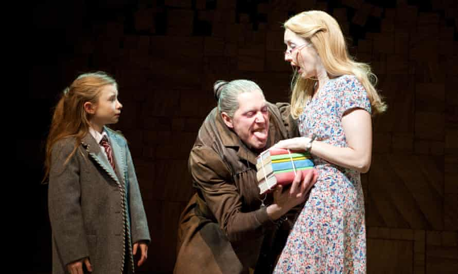 Taking centre stage: as Miss Trunchbull, with Kerry Ingram and Lauren Ward, in Matilda, A Musical.