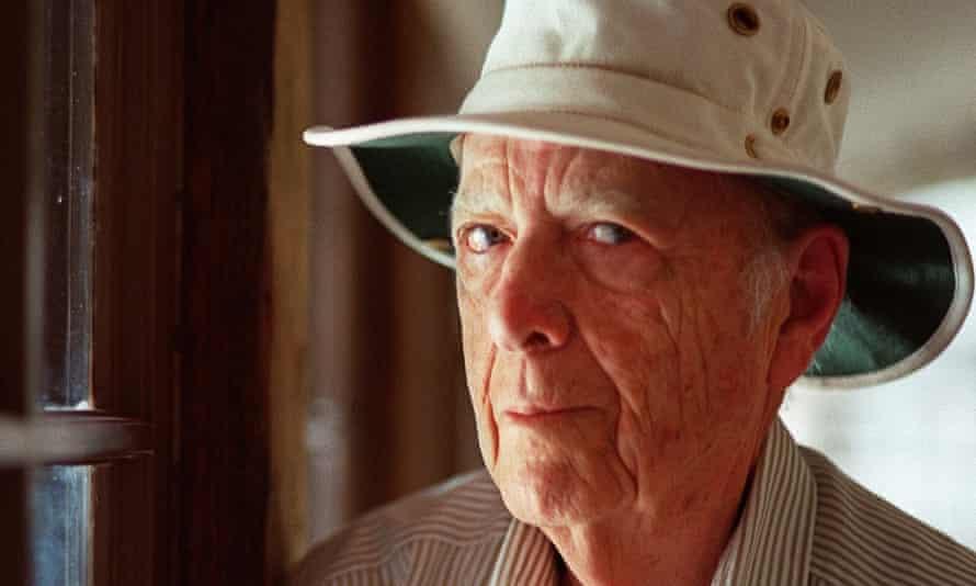 Herman Wouk at home in Palm Springs, California, in 2000.
