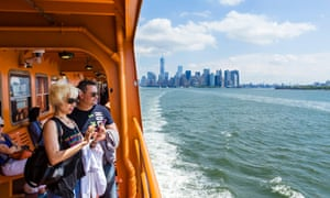 Passengers on New York's Staten Island ferry.