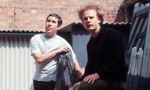 Pop musicians Simon and Garfunkel, circa 1965