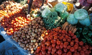 A vegetable market in Beira, the capital of Mozambique's Sofala province. Mozambique is one of eight countries on course to meet the millennium development goal on eradicating hunger.
