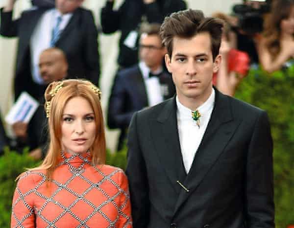 Joséphine de La Baume with her husband, Mark Ronson