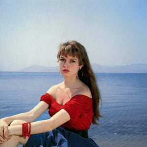 Brigitte Bardot at Cannes in 1953.