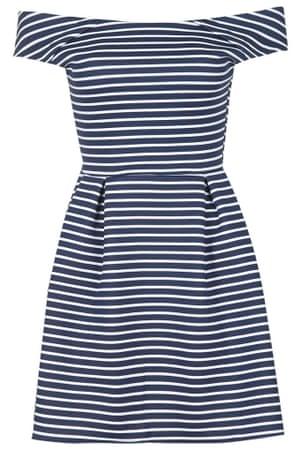Off Shoulder Striped Dress by Wal G, £27.00, Topshop.com