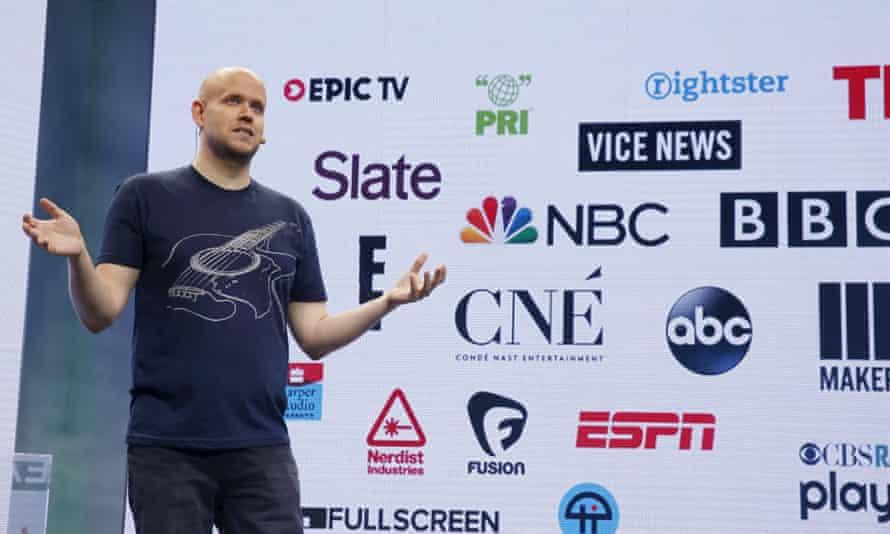 Spotify CEO Daniel Ek announcing video