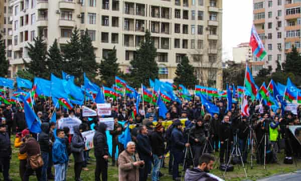 Thousands attended a rally at the Mehsul stadium in December, demanding the release of political prisoners.