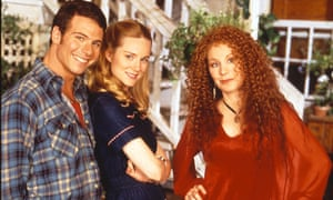 Marcus D'Amico as Michael Tolliver, Laura Linney as Mary Ann Singleton (centre) and Chloe Webb as Mona Ramsey in the TV version of Tales of the City.
