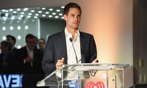Snapchat co-founder and CEO Evan Spiegel speaks in New York City in April.