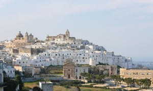 The medieval old town of Ostuni in Puglia.