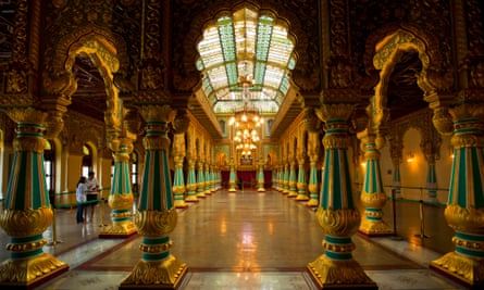 The palace of Mysore, official residence of the Wodeyars, the royal family.