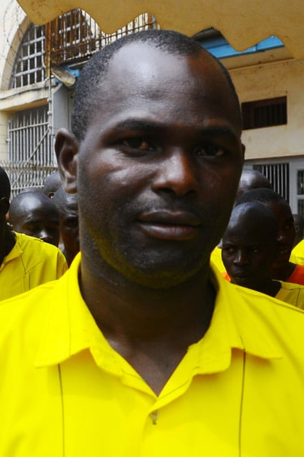 Opio Moses, who was sentenced to 20 years for murder, runs football at Luzira prison in Kampala