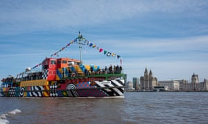 Sir Peter Blake dazzled the Mersey Ferry Snowdrop as part of the WW1 centenary, co-commissioned by Liverpool Biennial,14-18 NOW and Tate Liverpool 2015