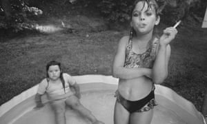 Amanda and her cousin Amy, in Valdese, North Carolina, 1990.