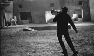 Federico Fellini on the set of Satyricon, in Rome, Italy, 1969.