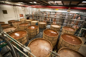 The liquid agave is then fermented in large pine vats. Half of the batch is fermented with the fibre from the agave, half of it is fermented as just pure agave syrup