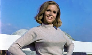 Honor Blackman as Pussy Galore in the 1964 film of Goldfinger.