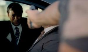 Losing face: Rhik Samadder's cameo in Strike Back.