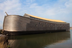 Replica of the arc of Noah, built at real scale as a museum, dordrecht, holland
