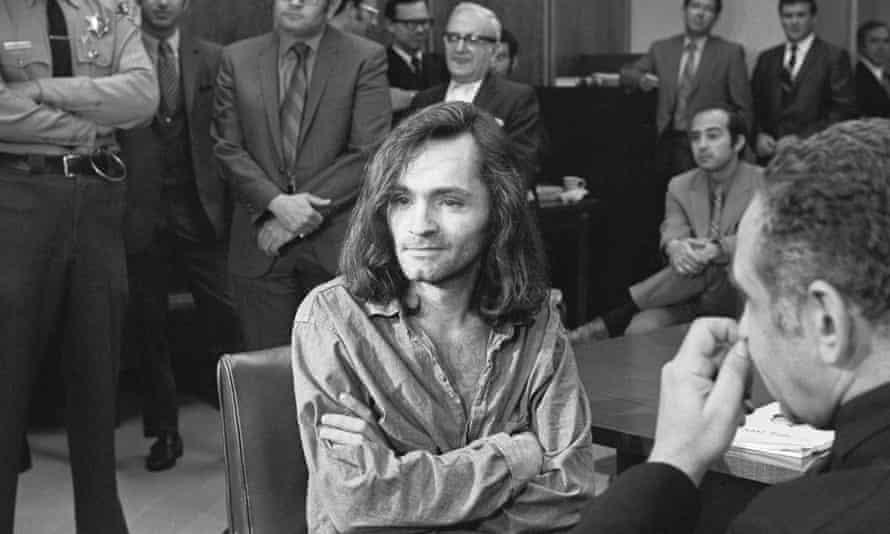Charles Manson at his trial in 1970, Santa Monica, California