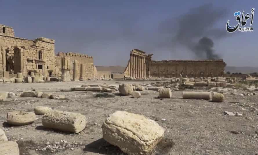 Video released by Islamic State supporters shows the archaeological ruins of Palmyra apparently undamaged.