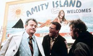 Murray Hamilton as the mayor of Amity, with Roy Scheider as police chief Brody and Richard Dreyfuss as Matt Hooper.