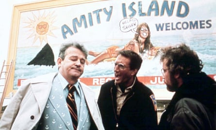 Murray Hamilton as the mayor of Amity, with Roy Scheider as police chief Brody and Richard Dreyfuss as Matt Hooper.