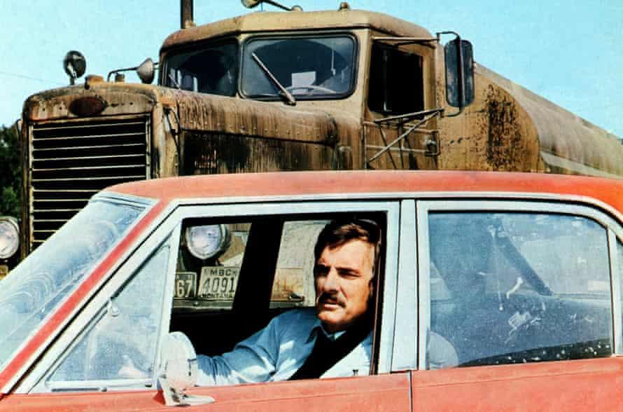 Dennis Weaver in Spielberg's TV movie Duel, in which a monster truck plays predator.