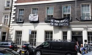 Mayfair squatters 16 Grosvenor Street