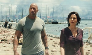 Wipe out … Dwayne Johnson and Carla Gugino in San Andreas.