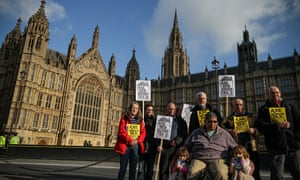 Bedroom tax parliament protest at Westminster