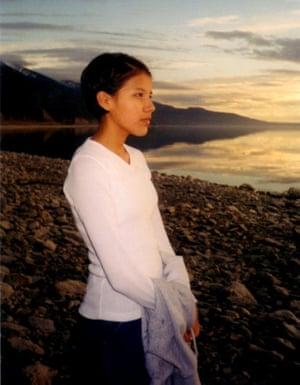 Misty Upham at Flathead lake, 1995.