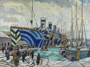 Olympic with Returned Soldiers, 1919 by Arthur Lismer (display on board the ferry at Everybody Razzle Dazzle by Sir Peter Blake)