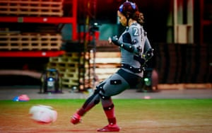 USA forward Sydney Leroux provides female-specific motion capture at EA Sports' Vancouver HQ.